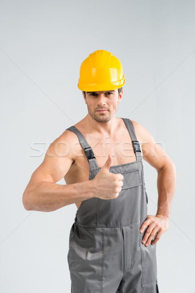 Handsome male builder Stock photo © LightFieldStudios
