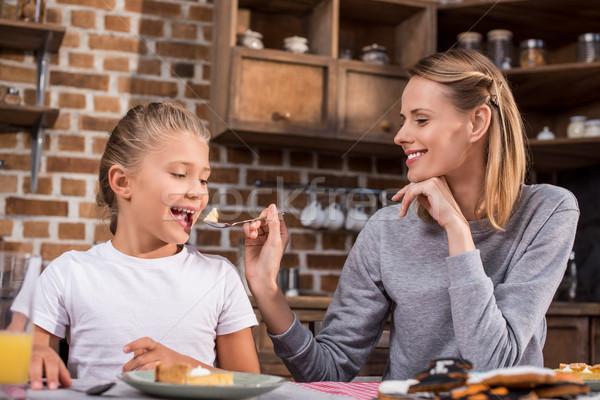 family having lunch together Stock photo © LightFieldStudios