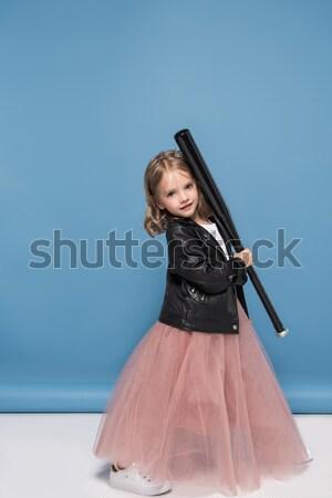 beautiful child with skateboard Stock photo © LightFieldStudios