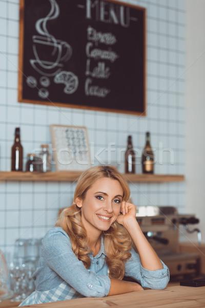 美しい ウエートレス カフェ バー ストックフォト © LightFieldStudios