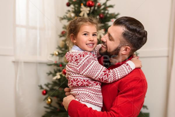 happy father and daughter Stock photo © LightFieldStudios