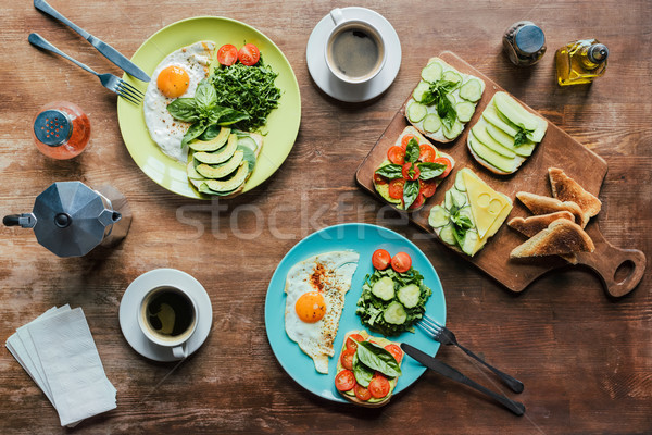 healthy breakfast for two Stock photo © LightFieldStudios