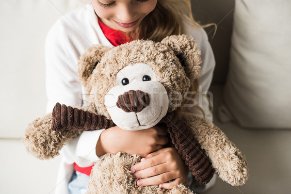 kid with teddy bear Stock photo © LightFieldStudios
