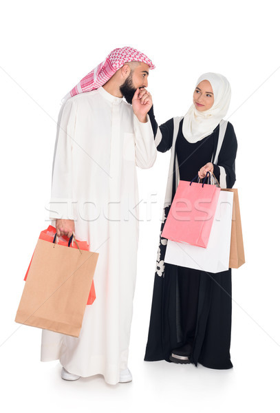 muslim couple with shopping bags Stock photo © LightFieldStudios