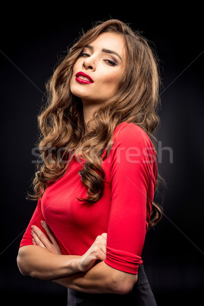 Gorgeous brunette woman Stock photo © LightFieldStudios