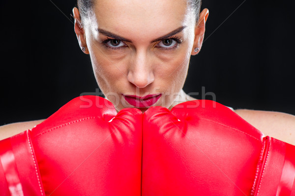 Woman in boxing gloves  Stock photo © LightFieldStudios