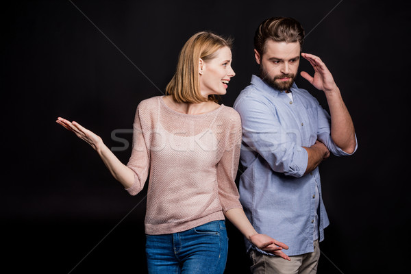 Young man and woman Stock photo © LightFieldStudios