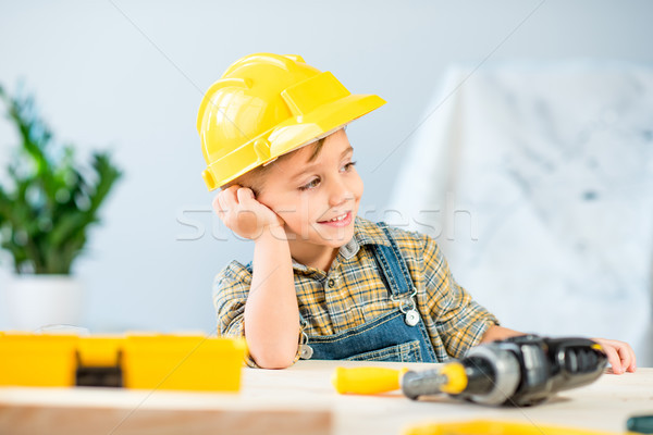 Little boy in workshop Stock photo © LightFieldStudios