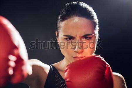 Stockfoto: Jonge · sportkleding · naar · camera · sport
