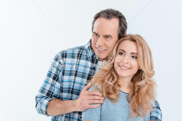 Man blonde vrouw glimlachend Stockfoto © LightFieldStudios