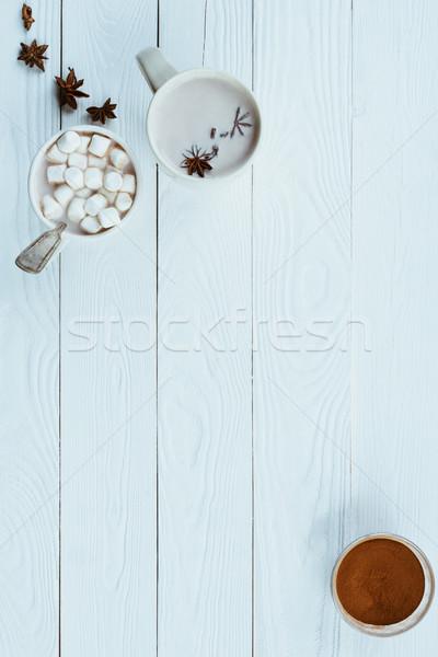 Cacau marshmallow anis estrelas topo Foto stock © LightFieldStudios