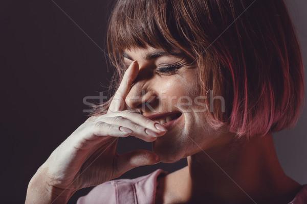 laughing girl with powder   Stock photo © LightFieldStudios