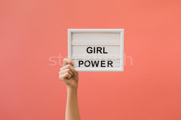 Boord meisje macht vrouwelijke hand Stockfoto © LightFieldStudios
