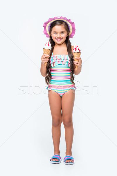 ребенка купальник мороженым Cute девочку Сток-фото © LightFieldStudios