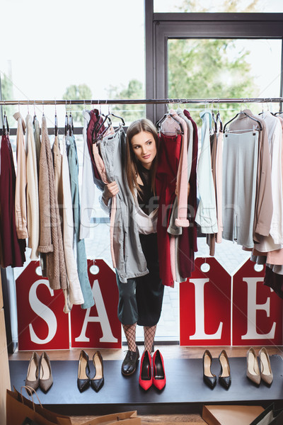 shopaholic on sale in boutique Stock photo © LightFieldStudios