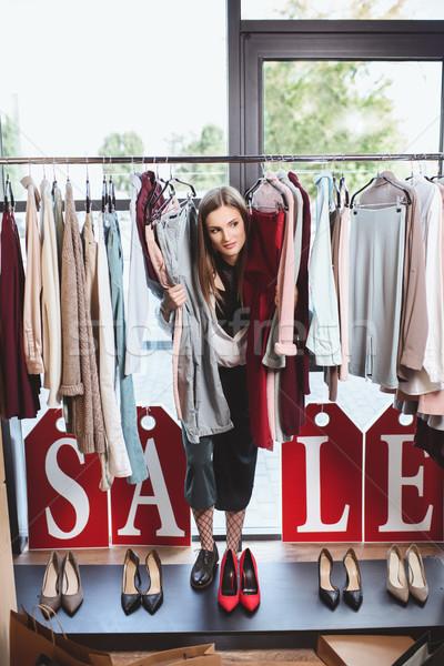 продажи бутик женщины одежды каблуки Сток-фото © LightFieldStudios