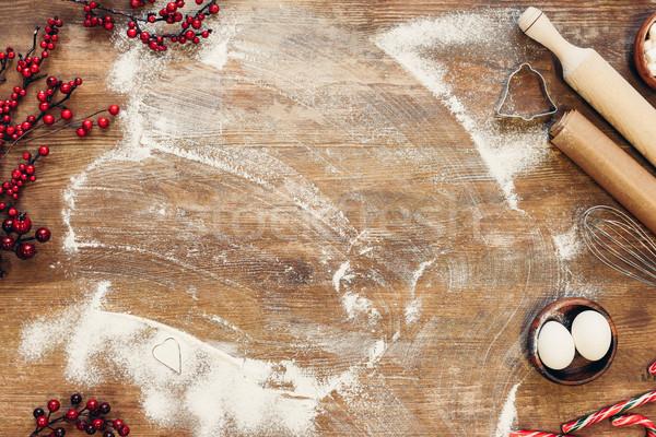 ingredients for dough and utensils Stock photo © LightFieldStudios