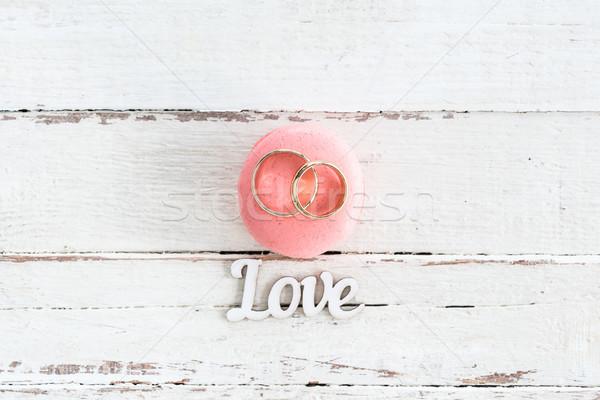 Top мнение обручальными кольцами розовый Сток-фото © LightFieldStudios
