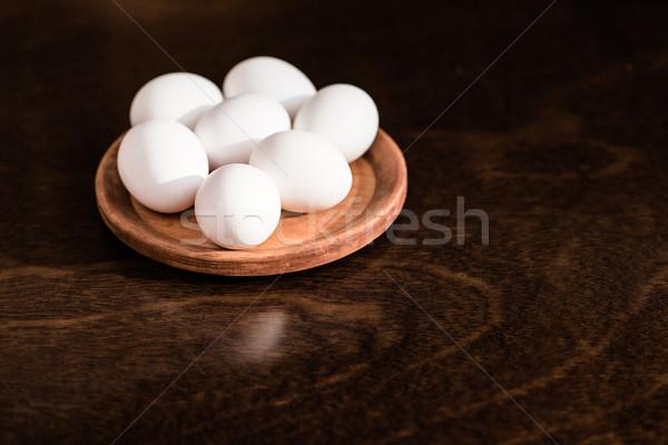 raw chicken eggs Stock photo © LightFieldStudios