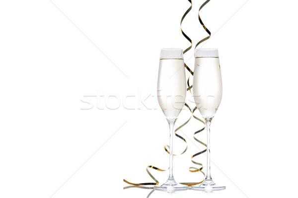 眼鏡 シャンパン フル 孤立した 白 ストックフォト © LightFieldStudios