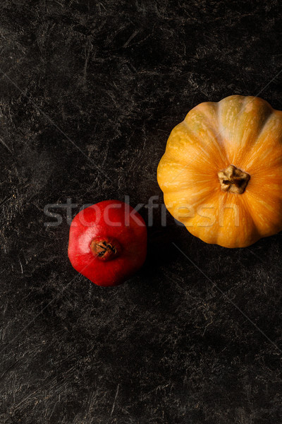 autumnal pomegranate and pumpkin Stock photo © LightFieldStudios