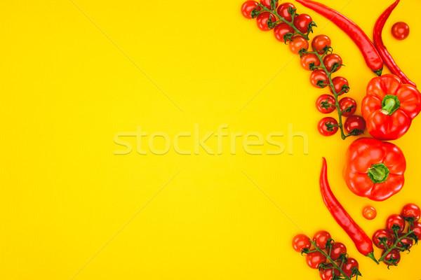 Top мнение свежие сырой помидоры черри Сток-фото © LightFieldStudios