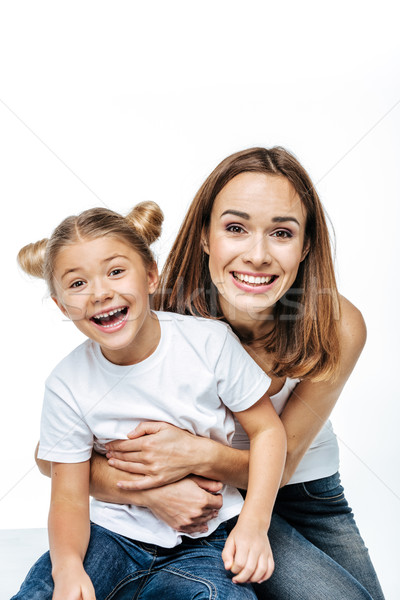 Mother and daughter having fun together Stock photo © LightFieldStudios