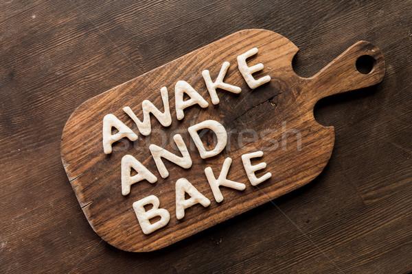 先頭 表示 食用 目が覚める 焼く 木製 ストックフォト © LightFieldStudios