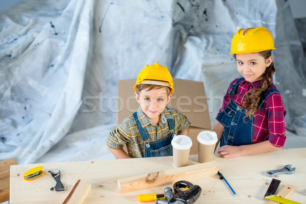 Kids with disposable cups Stock photo © LightFieldStudios