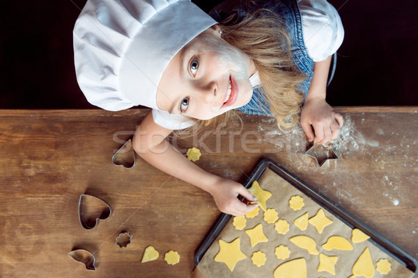 Topo ver menina bolinhos Foto stock © LightFieldStudios