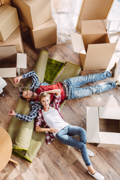 Paar top gelukkig Stockfoto © LightFieldStudios