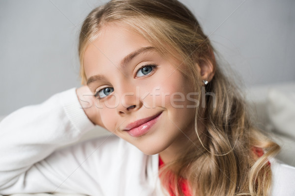 adorable preteen child Stock photo © LightFieldStudios