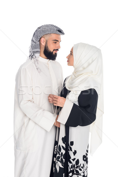 muslim couple embracing Stock photo © LightFieldStudios