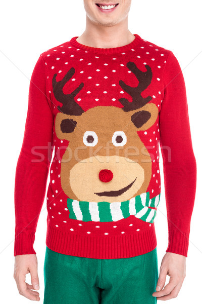 man in winter sweater Stock photo © LightFieldStudios
