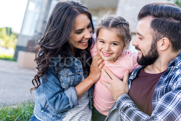 family having fun together Stock photo © LightFieldStudios