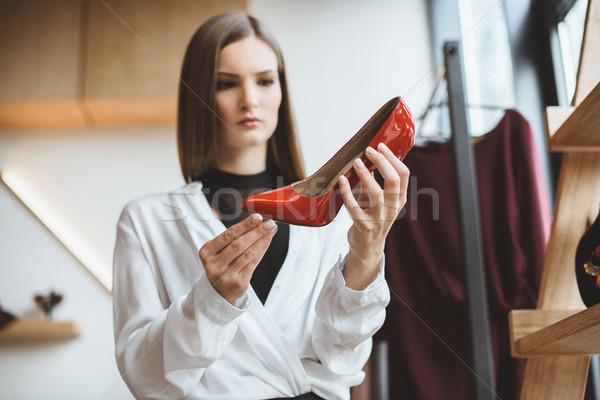 Donna tacchi bella alla moda elegante Foto d'archivio © LightFieldStudios