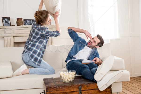 Couple fooling around Stock photo © LightFieldStudios