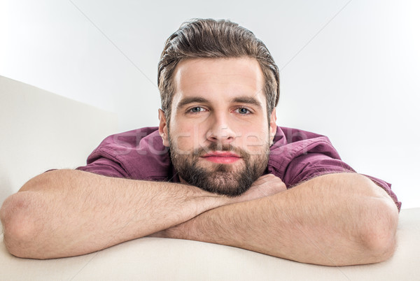 Handsome bearded man Stock photo © LightFieldStudios