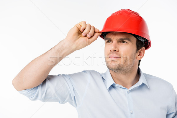 Male architect in hard hat Stock photo © LightFieldStudios