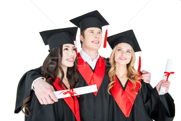 Szczęśliwy studentów akademicki stałego kobiet Zdjęcia stock © LightFieldStudios