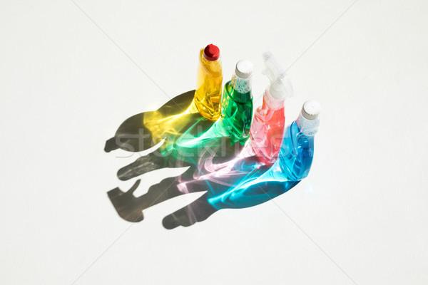 Сток-фото: бутылок · чистящие · средства · мнение · красочный · очистки