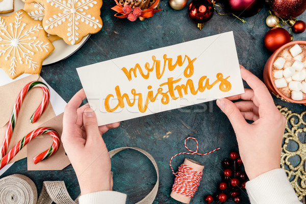 merry christmas card Stock photo © LightFieldStudios