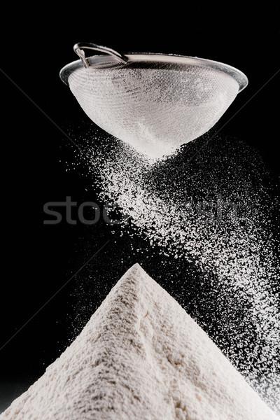 мучной падение изолированный черный фон Сток-фото © LightFieldStudios