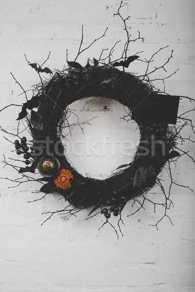 Хэллоуин венок мнение декоративный подвесной Сток-фото © LightFieldStudios
