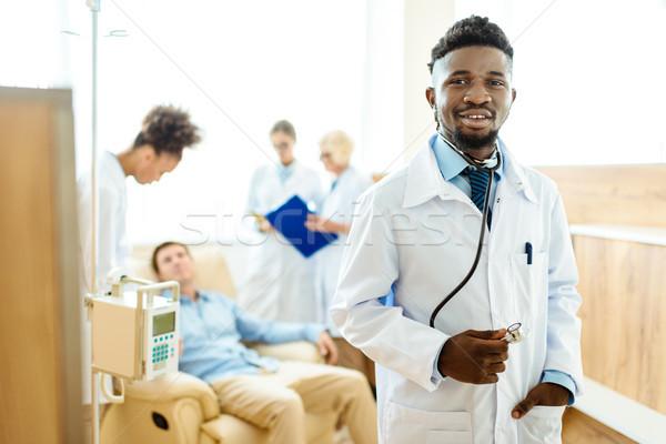 young african-american doctor in hospital Stock photo © LightFieldStudios