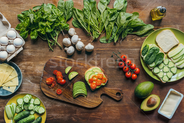 healthy breakfast ingredients Stock photo © LightFieldStudios