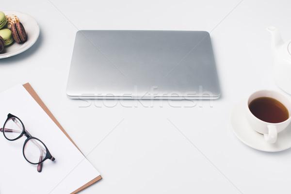 modern workplace with laptop Stock photo © LightFieldStudios