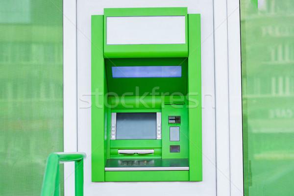 Caixa eletrônico numerário máquina parede banco dinheiro Foto stock © LightFieldStudios