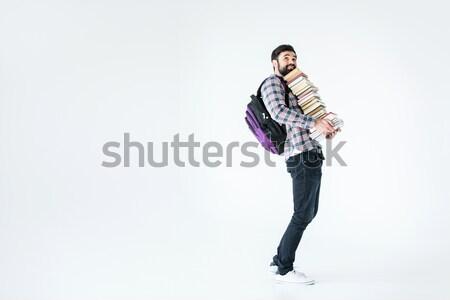 あごひげを生やした 学生 図書 白 ストックフォト © LightFieldStudios