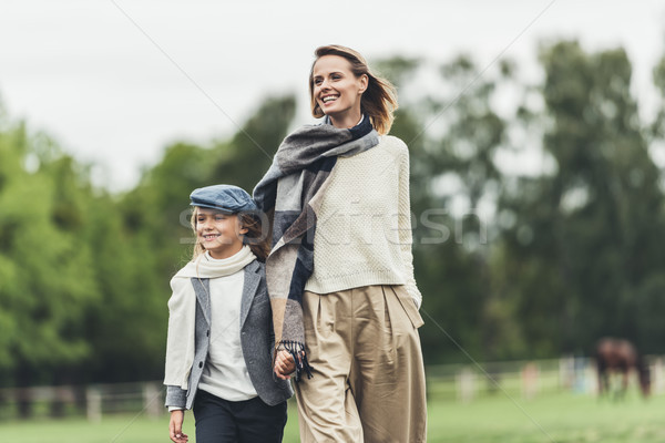 mother and daughter walking at countryside   Stock photo © LightFieldStudios